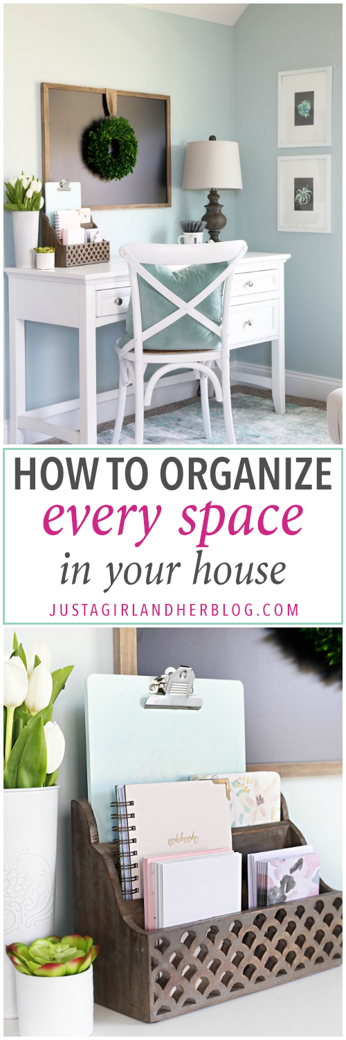 How to Organize Every Space in Your House   Declutter, Small ...