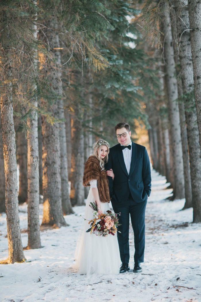 Elegant Winter Woodland Wedding - Calgary Bride | Creative Wedding ...