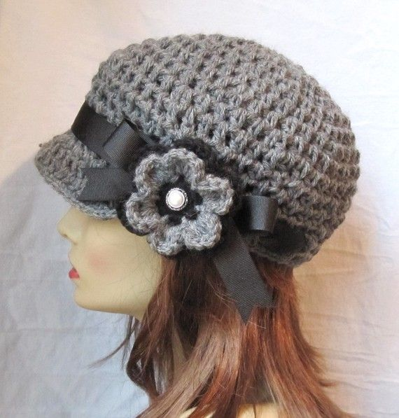 Crochet el vendedor de periódicos. Chic lindo. Sombrero de las ...