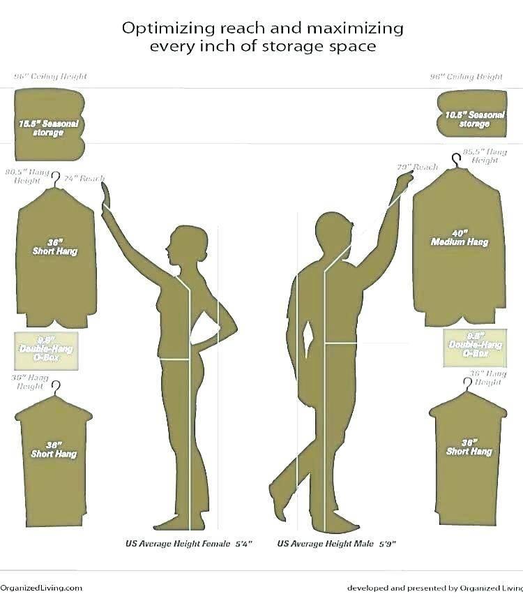 Standard Height Closet Shelf Coat Rod Shelves Creative Hanging Bar