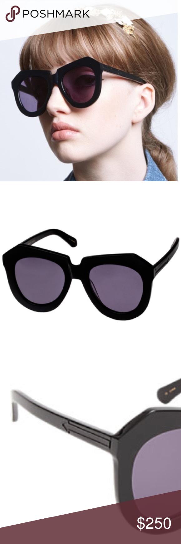 36095a09540f Karen Walker One Worship Sunglasses Brand new Karen Walker handmade black  plastic angular-frame