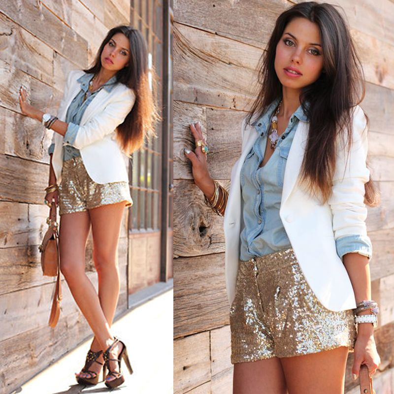 Add+a+pop+of+sparkle+with+our+Trail+Of+Glitter+Shorts -  Spring Summer Fall Winter Fashion 2017 www.psiloveyoumoreboutique.com