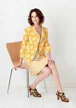 Love the jacket!  love ruffles, love 3/4 lenght sleeves, love short length.