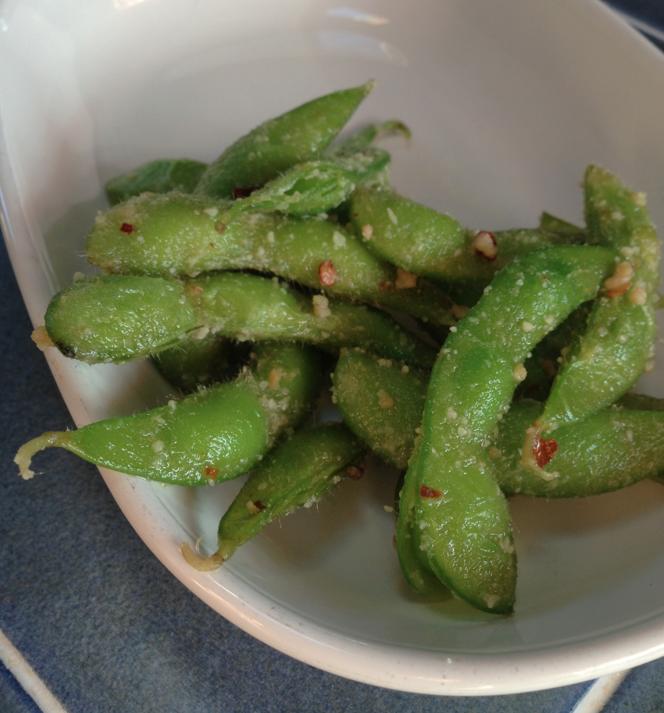 Garlic Chili Edamame - kicks the bread & oil carb cravings! #keto | Keto Recipes | Recipes, Food ...