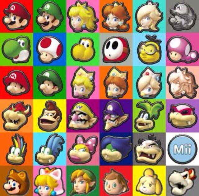 Mario Kart 8 And Dlc Pack Characters Mario Kart Mario