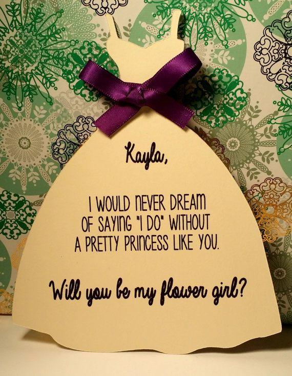 Werden Sie meine Brautjungfer/Magd der Ehre/Blumenmädchen ...