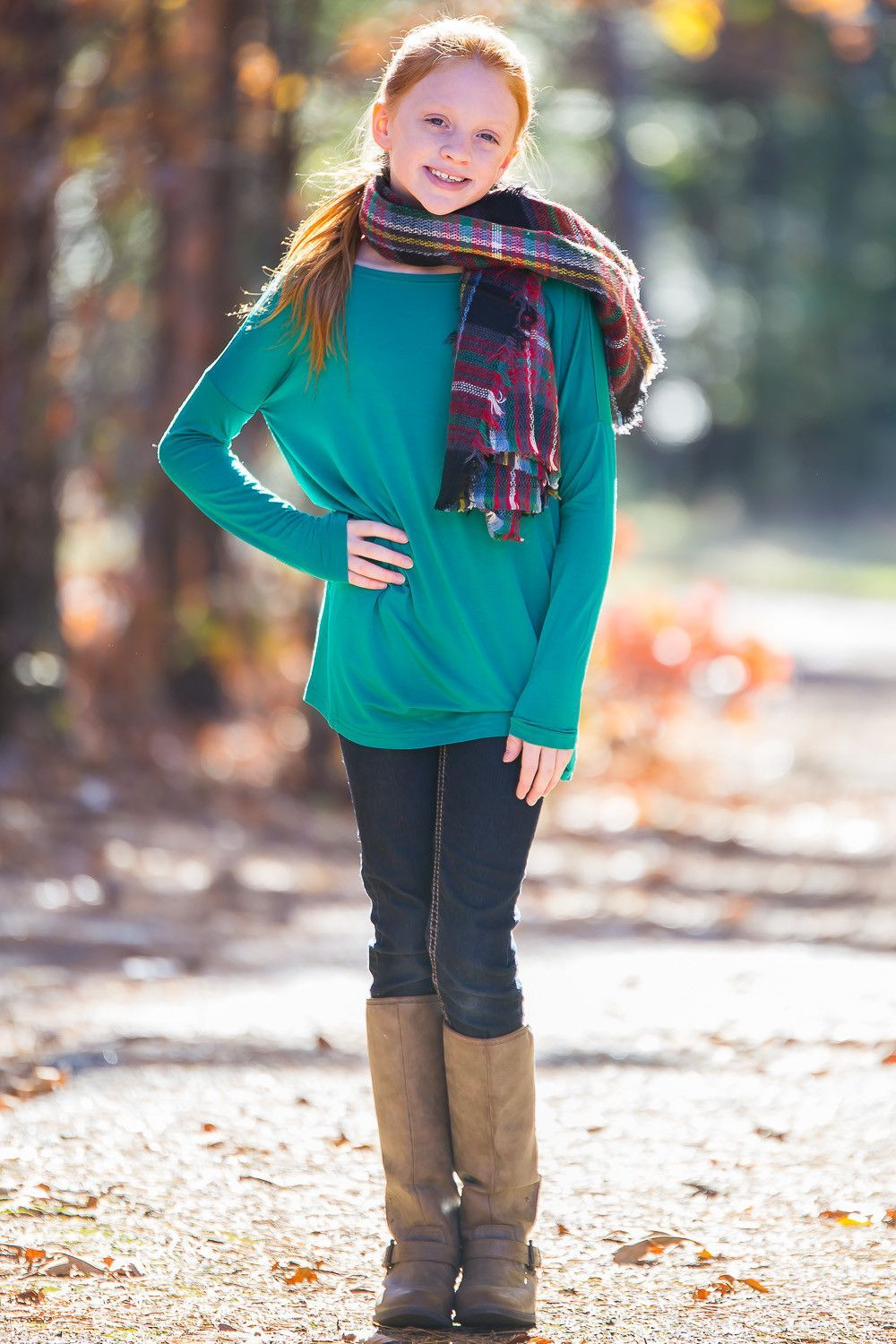 The perfect kids long sleeve piko topgreen products