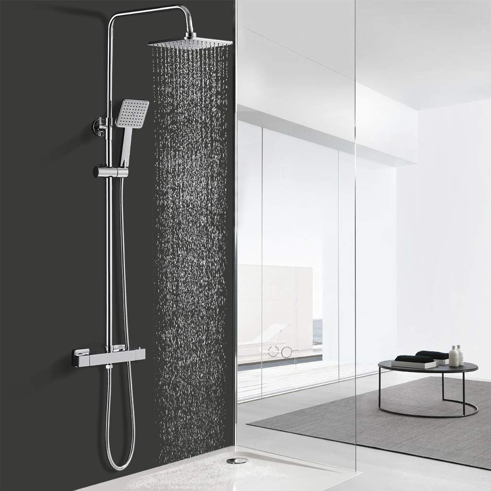 Duschsystem Mit Thermostat In 2020 Duschsysteme Regendusche Duscharmatur