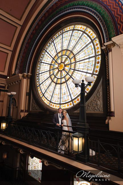 Love The Stained Gl And History Of Building Jen James Union Station Wedding Indianapolis