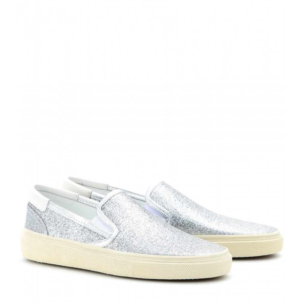 cheap sale classic Saint Laurent Glitter Slip-On Sneakers sale best store to get buy cheap very cheap discount low price jI8X0LNnoI