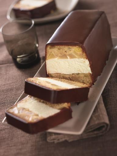 Bûche Glacée Speculoos Poires Chocolat Amande Recipe Dessert