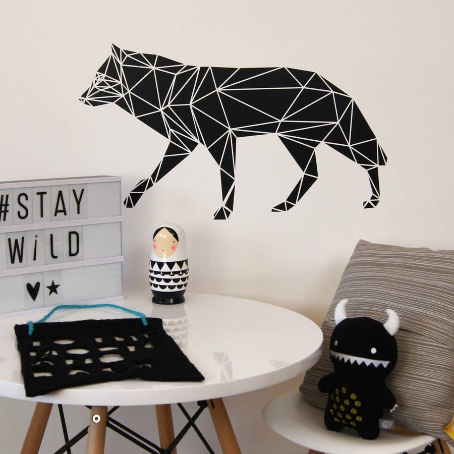 geometric wolf wall sticker geometric wolf wall sticker and wolf geometric wolf wall sticker the geometric trend is upon us and we have fully embraced