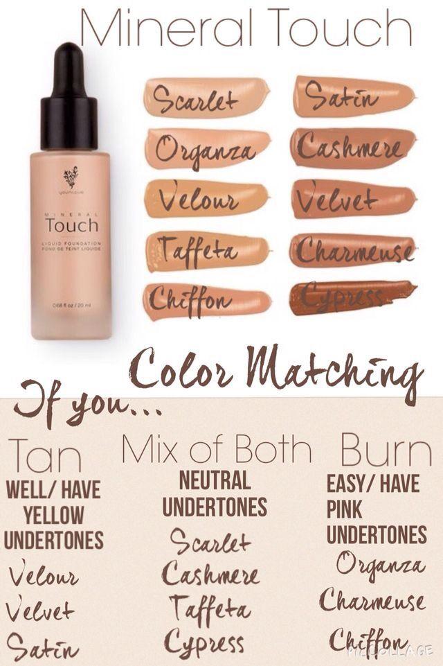 Touch Liquid Foundation Color Matching Chart Beauty Pinterest