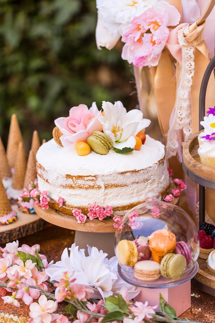 b6fe439c6672 Throw the ultimate boho themed bridal shower or wedding reception with this  unique + fun spin on a wedding dessert table using a DIY dessert bar filled  with ...
