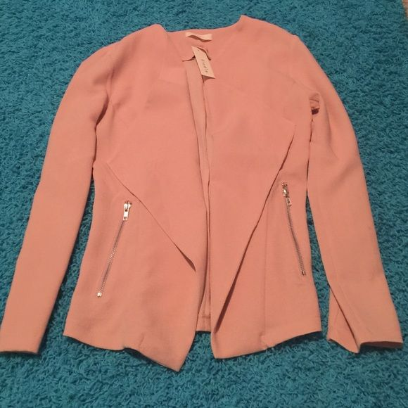 Peach pink jacket blazer! Peach pink jacket blazer. Never worn just tried on. Very comfy! Jackets & Coats Blazers