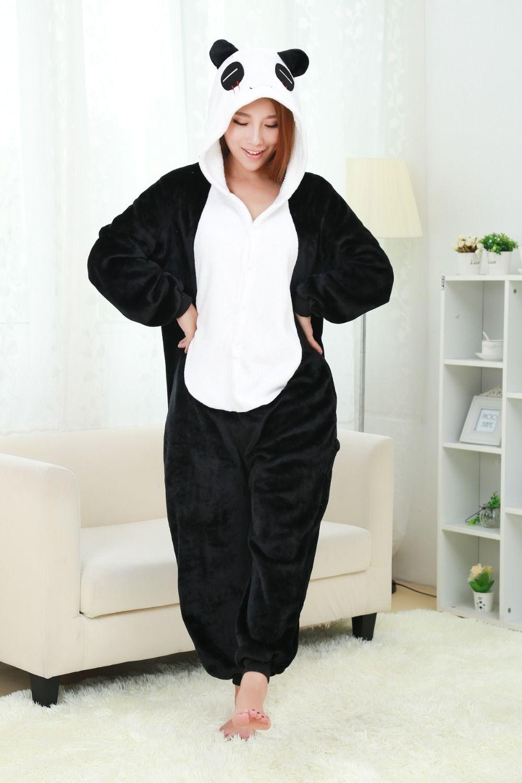 Aliexpress.com : Buy New Flannel Pajamas Panda Pajama Cartoon Animal ...