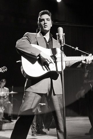 During Rehearsal---Elvis in the Beginning: Photographs by Alfred Wertheimer