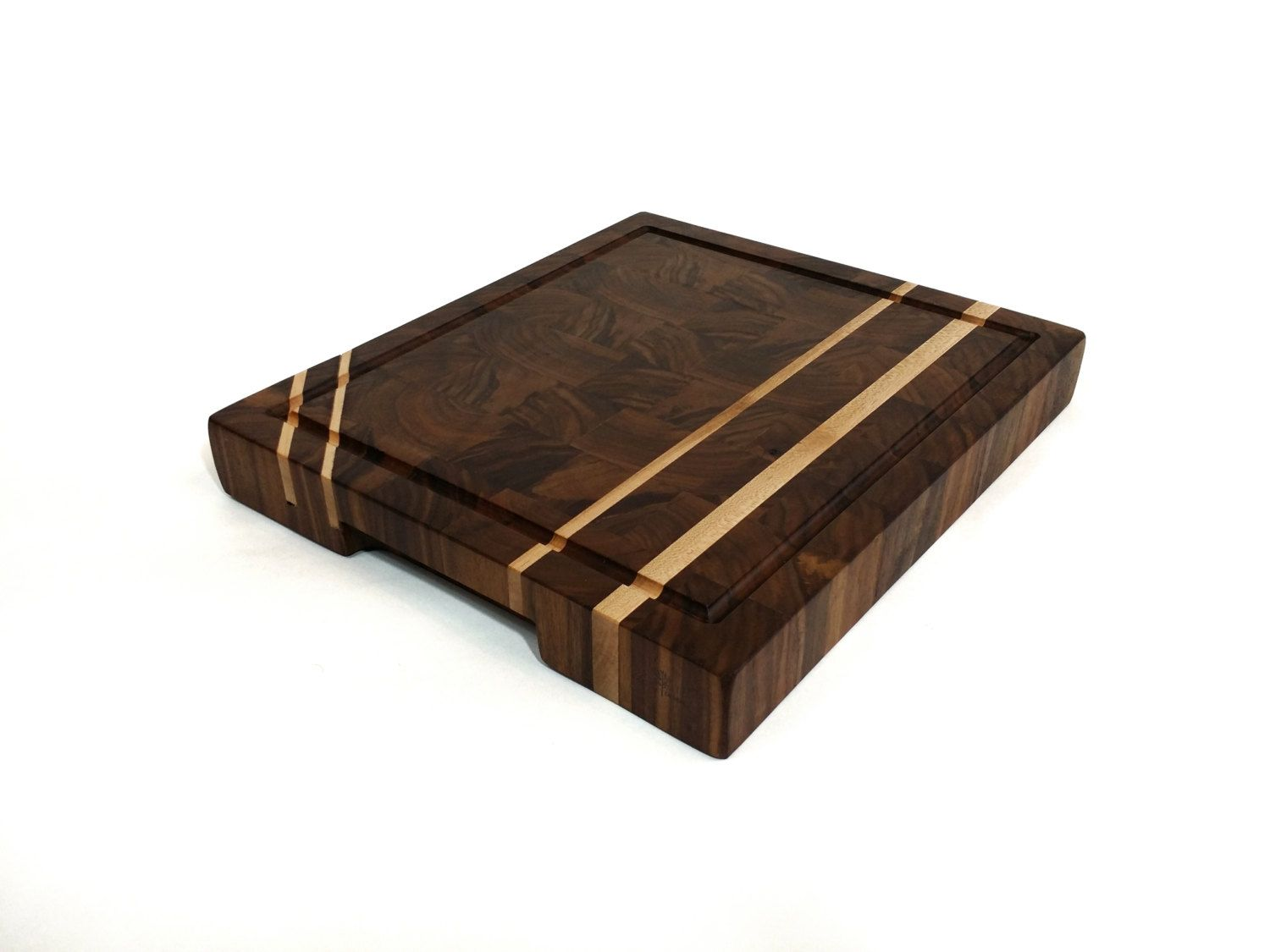 solid black walnut end grain cutting board with by. Black Bedroom Furniture Sets. Home Design Ideas