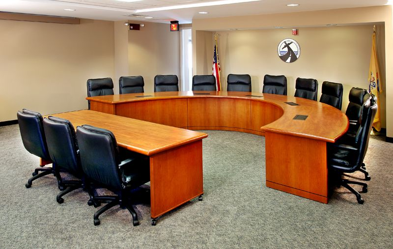 CUSTOM SEMICIRCLE Custom Ft SemiCircular Table In Cherry With - 16 foot conference room table