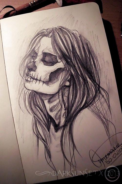 Holiday Girl Art Bones Drawing Girl Halloween Horror Love Mask Paper Photography Skull Asaelmalik Half De Dibujar Arte Dibujos Dibujos Psicodelicos