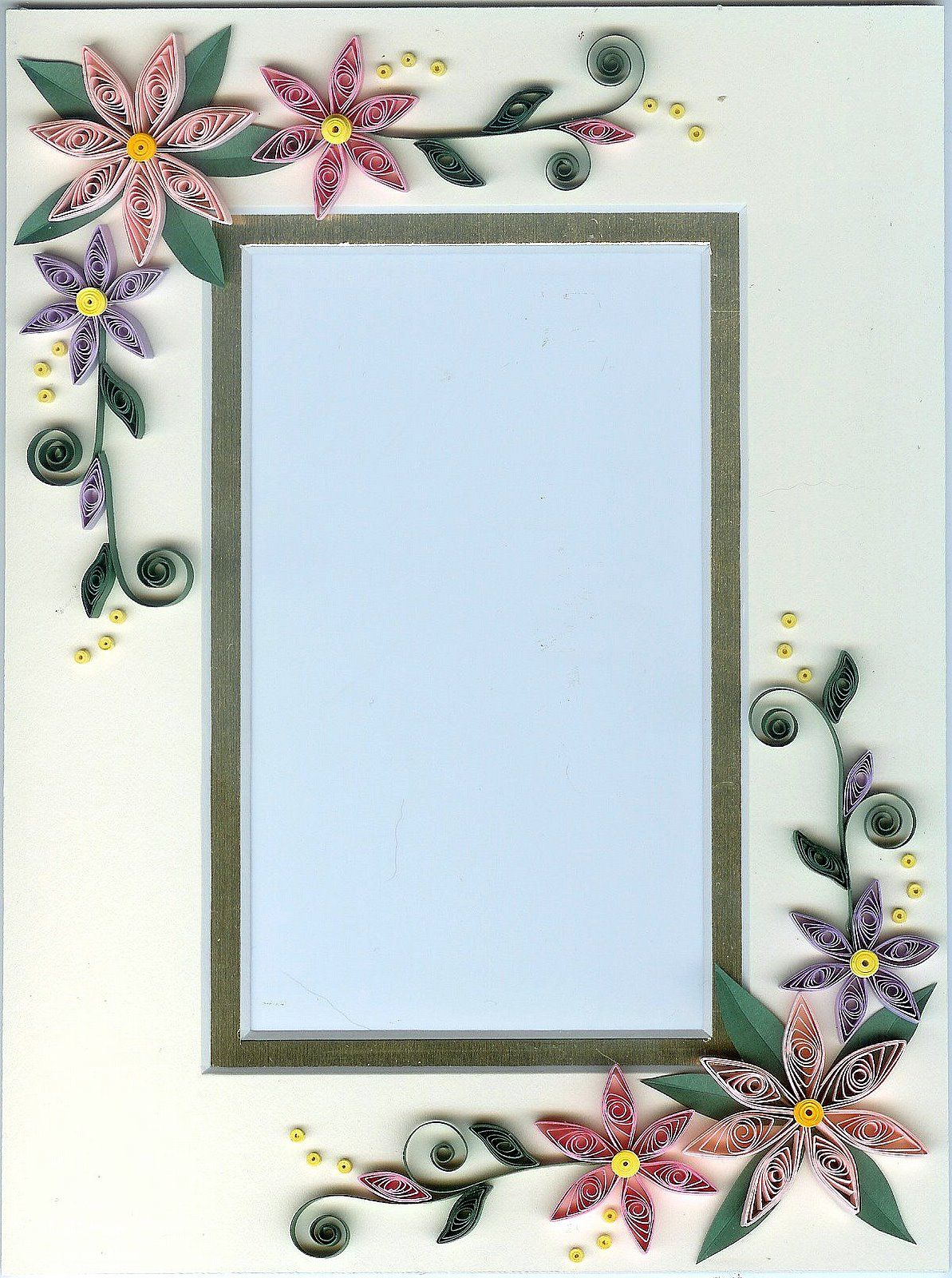 Quilled frame quilling pinterest quilling paper quilling quilled frame sciox Image collections