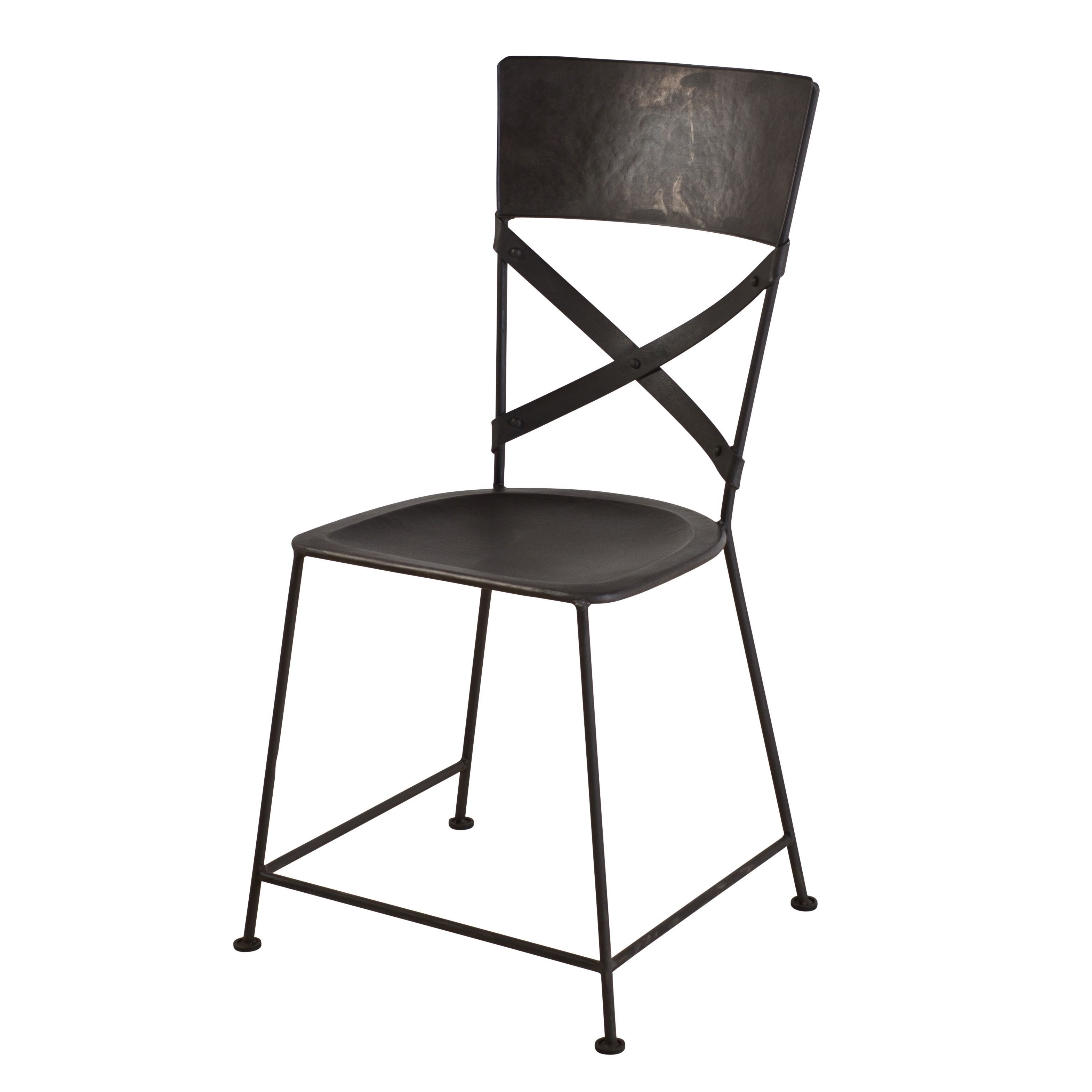 Zinc Finish Furniture X Back Zinc Dining Chair Dining Chairs Iron And Online Furniture