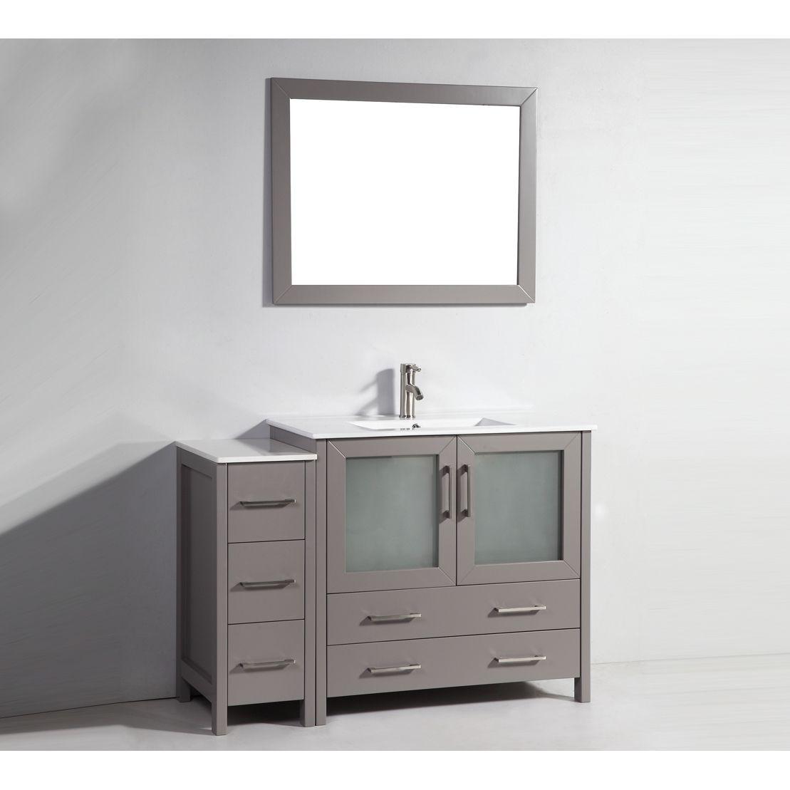 Vanity Art Single Sink 48 Inch Bathroom Set With Ceramic Top Espresso Brown Size Vanities