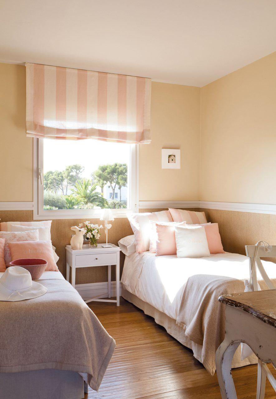 Una casa donde triunfa la comodidad dormitorio infantil for Decoracion de la habitacion de nina rosa