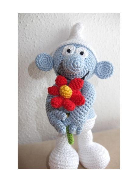 Schlumpf gehäkelt, häkeln, crocheted smurf, Häkelanleitung, crochet ...