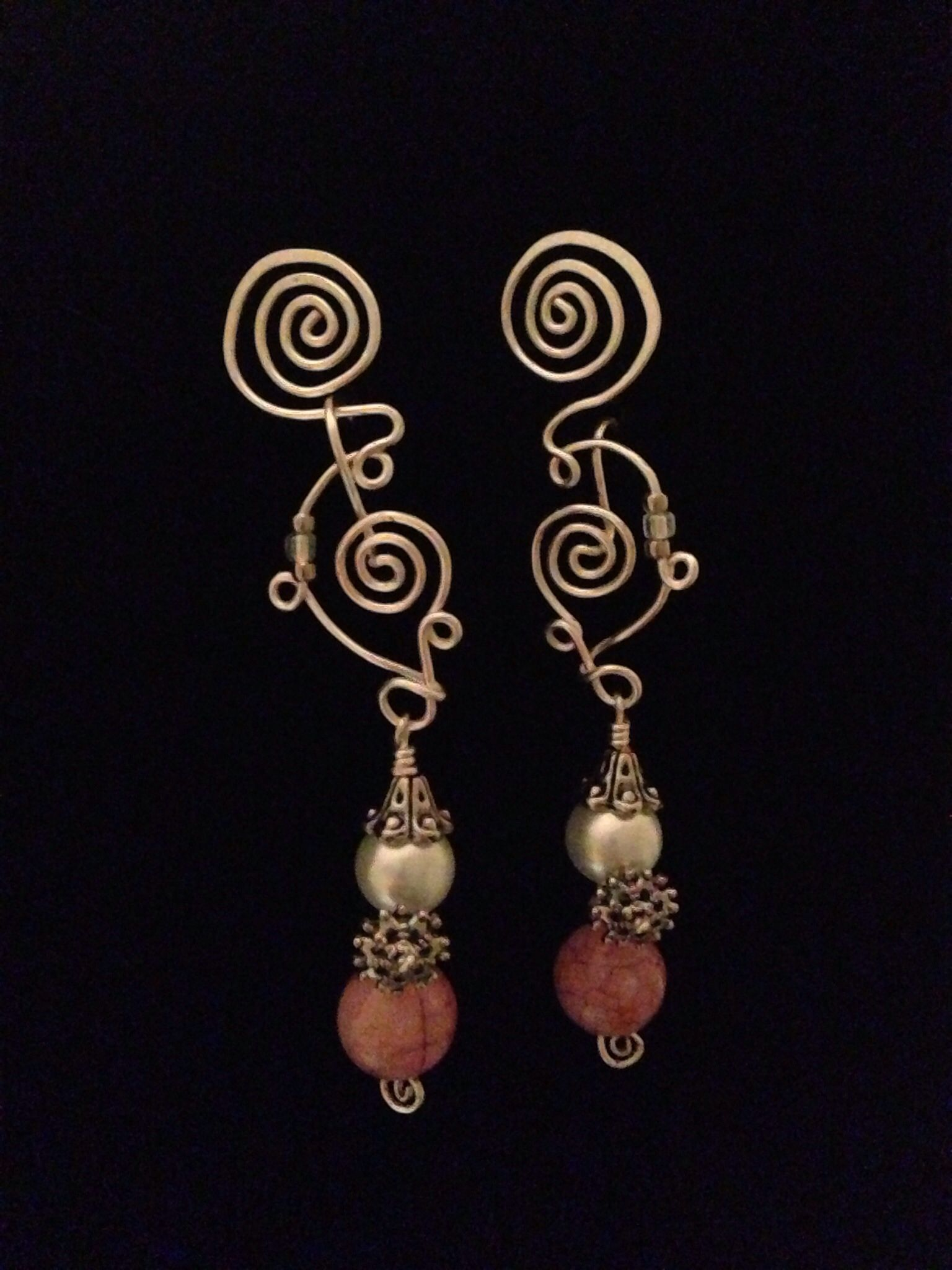 Swirls and pearls Handcrafted jewelry, Jewelry crafts