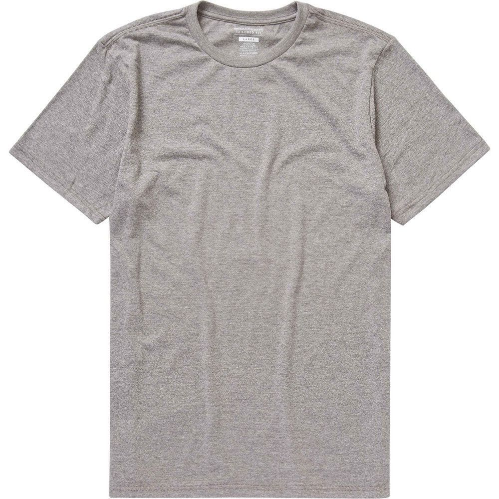 Essential Tailored Tee (Dark Heather Grey)