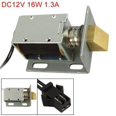 Electric Lock Assembly Solenoid Cabinet Drawer Door Lock 12v Dc 1 1a Electronicslovers Official Store Electric Lock Electricity Drawers