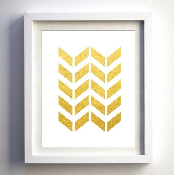 Gold foil faux Arrows, gold foil art Arrow Print Art, Tribal Arrows ...