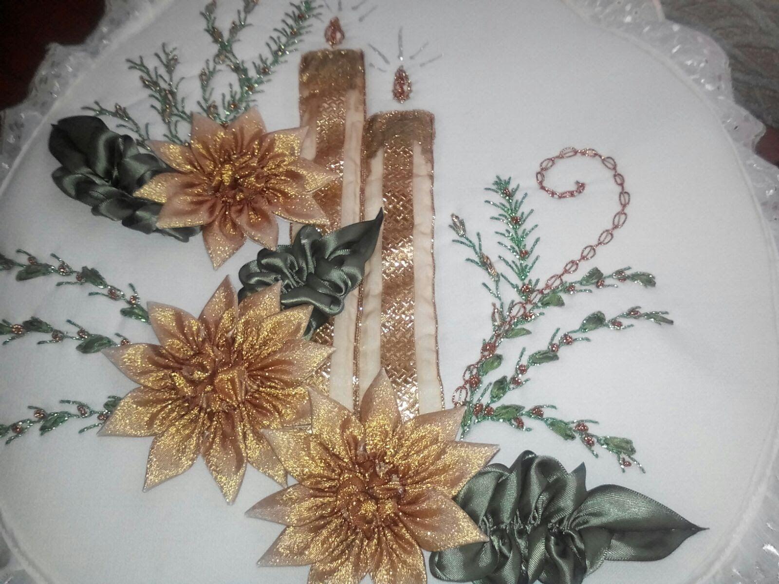 velas para bano dise o jgo de ba o velas navidad liston pinterest ribbon embroidery embroidery and ribbon