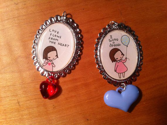 Pony Brown girl cameos in silver plated by PinkFrostingRehab, $15.00