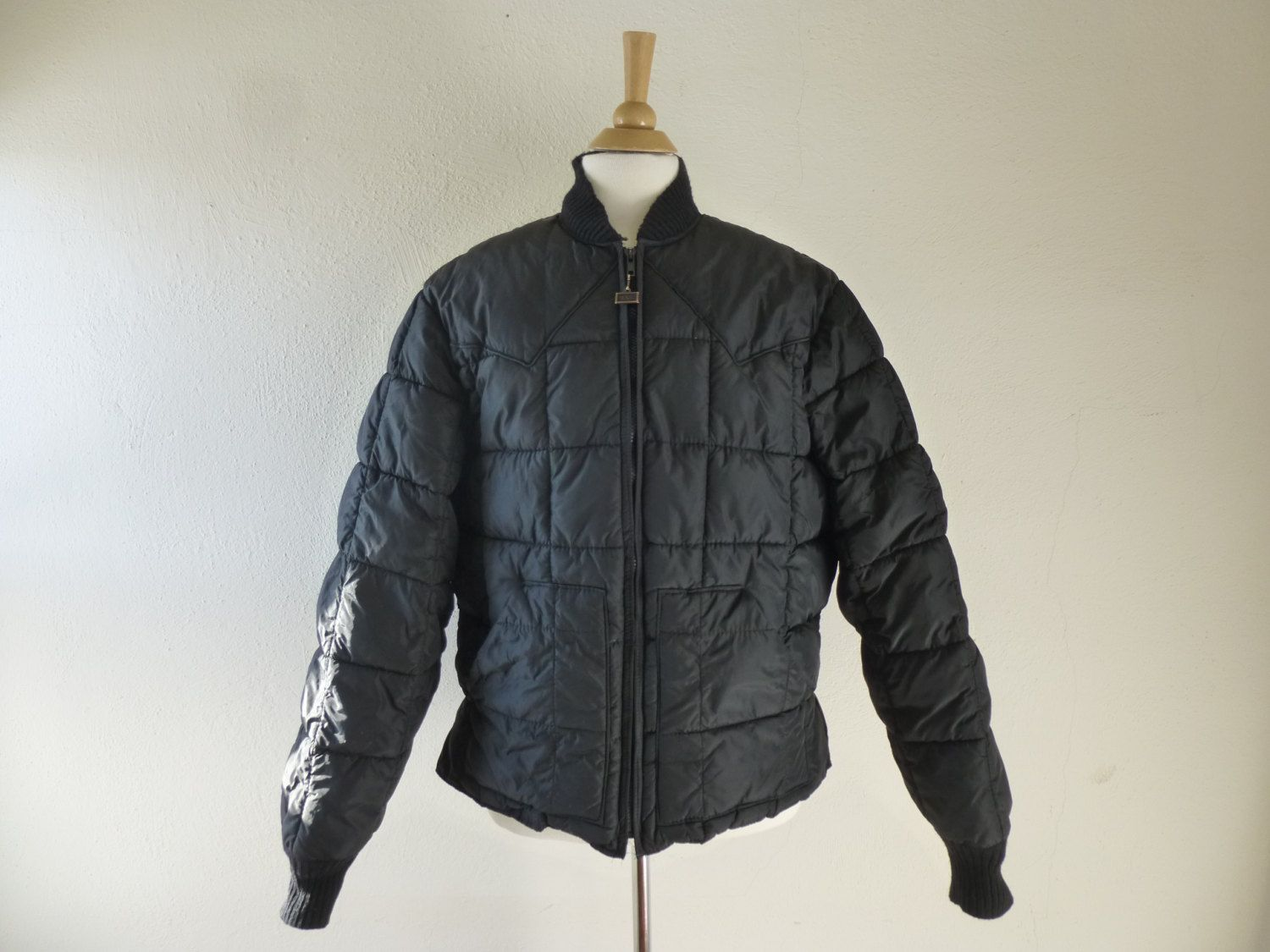 Vintage 60s 70s Walls Blizzard Pruf Quilted Bomber Jacket L Xl