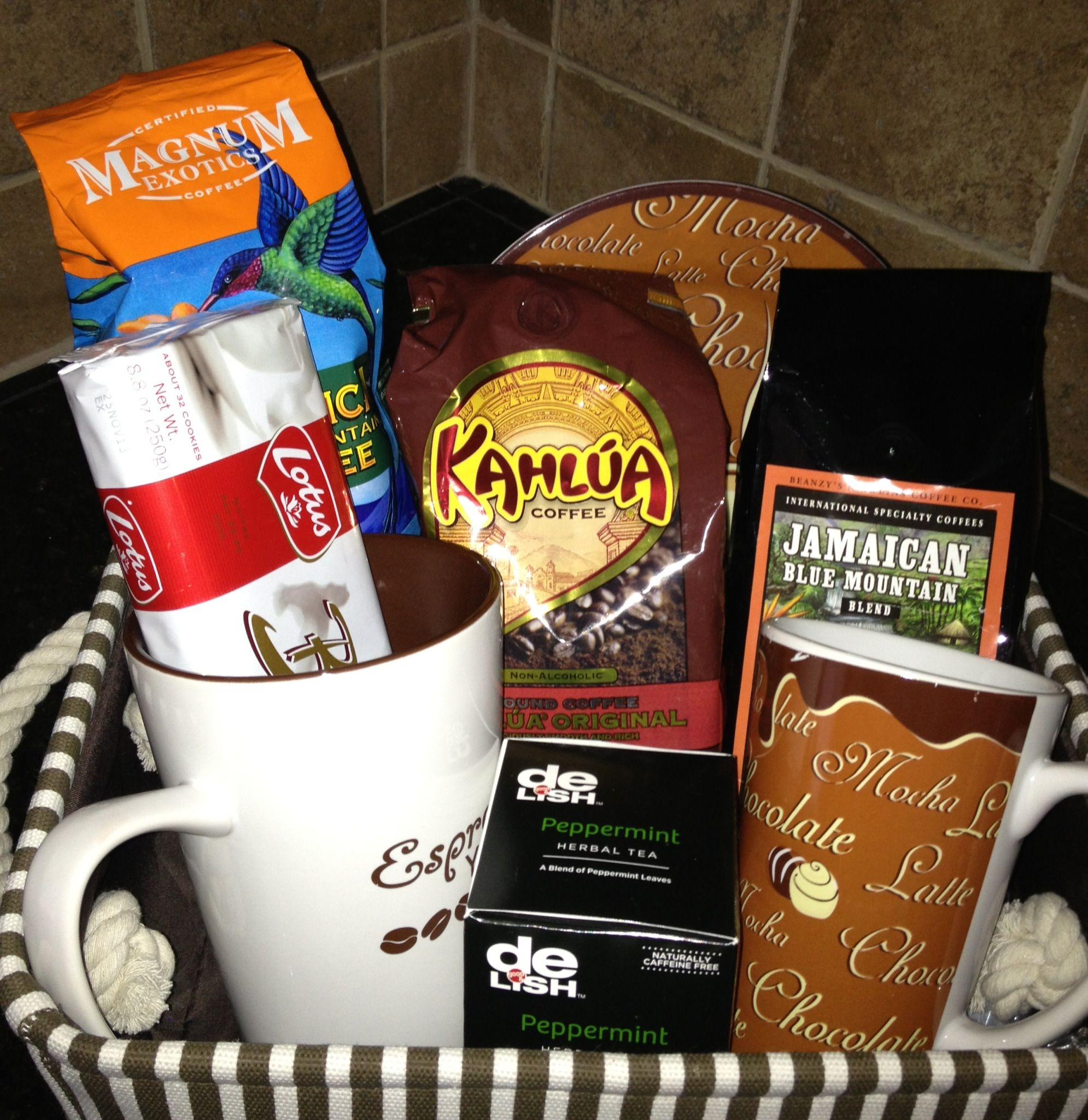 Coffee Gift Basket | Gift Baskets | Teacher gift baskets ...