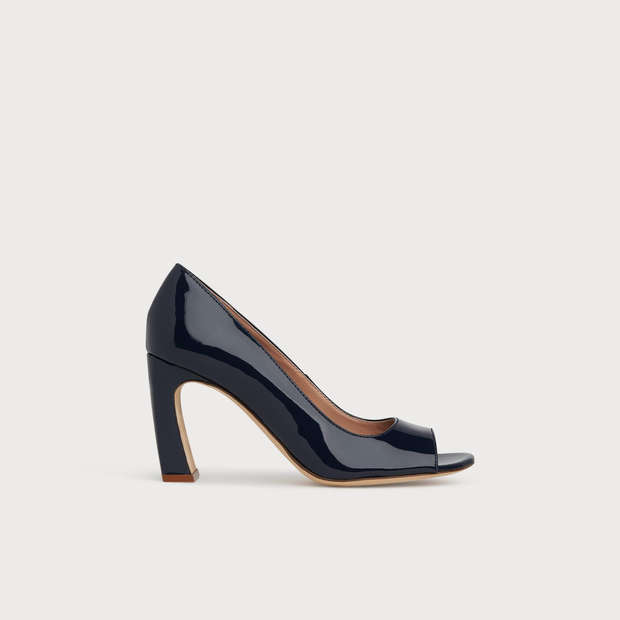 Navy heels, Heels, Leather heels