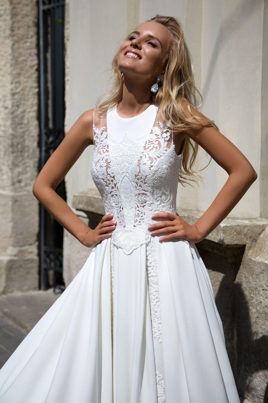 Wedding Dress By OKSANA MUKHA Designer In Charme Gaby Bridal Gown Boutique Tampa Bay FL