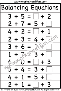 Balancing Equations   Worksheet  Printable Worksheets