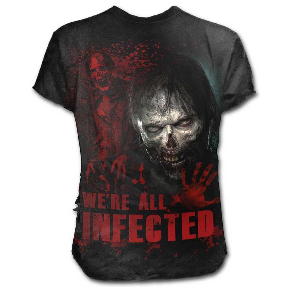 The Walking Dead - All infected ripped unisex T-shirt zwart