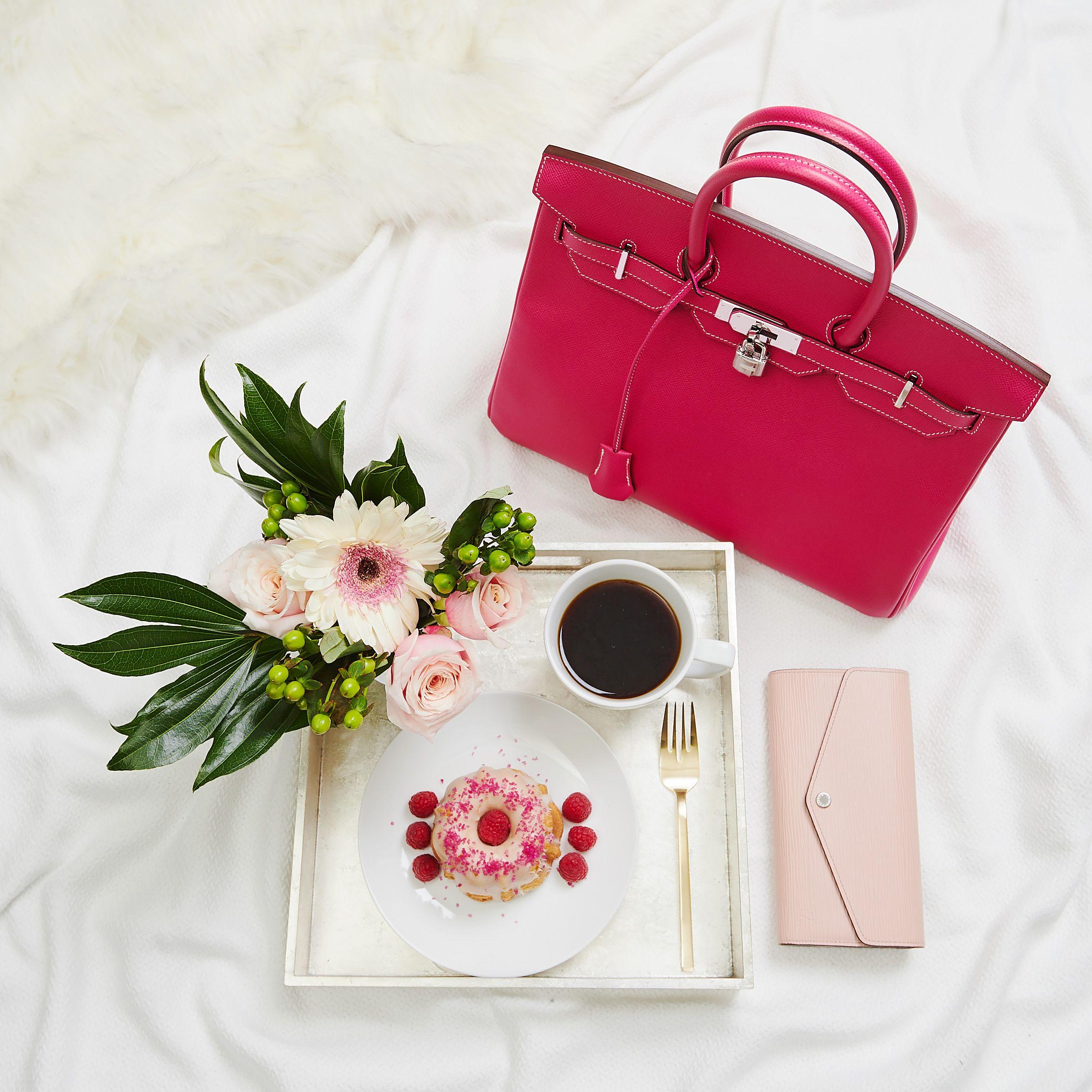 Hermes 35cm Rose Tyrien Epsom Leather Palladium Plated Birkin Bag
