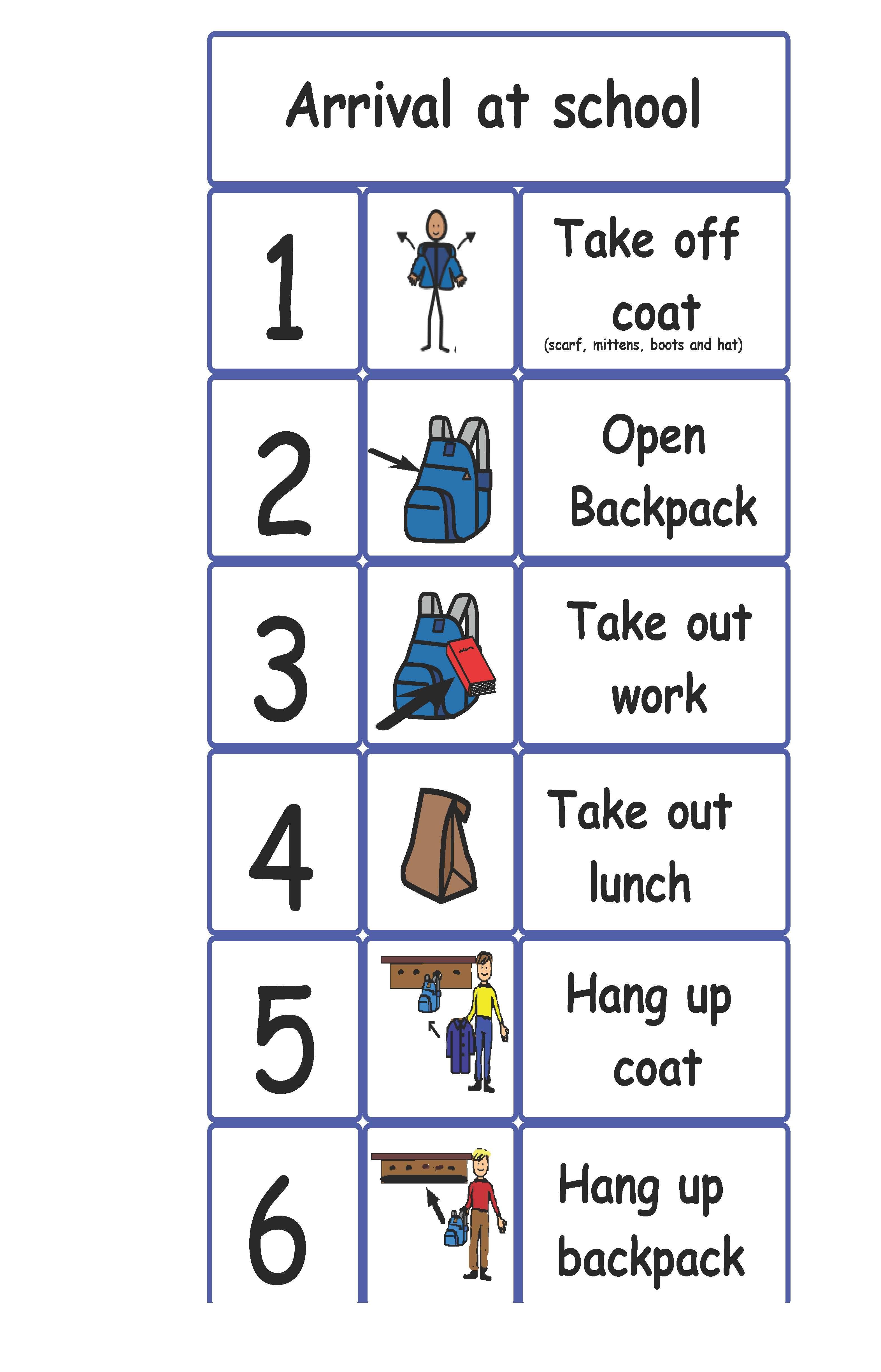 Boardmaker Getting Dressed For Winter Visual Schedule Visual Schedule Preschool Special Education Visual