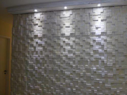 Revestimento de gesso 3d mosaico liso placa de gesso 3d for Mosaico adesivo 3d