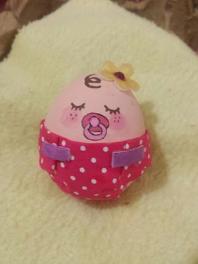 Huevo Decorado Como Bebe Pascua Huevos Decorados Huevos