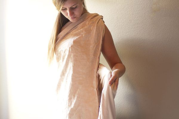 how to make a cleopatra dress out of a sheet