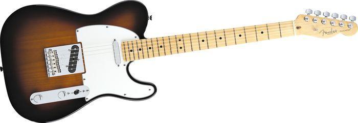 Fender Telecaster with sunburst finish and maple fretboard