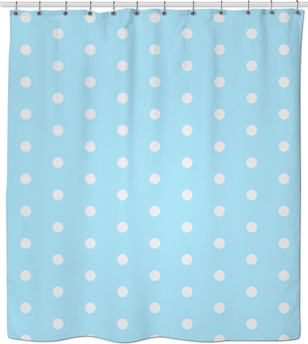 Pastel Light Blue And White Polka Dots Pattern Classic Retro