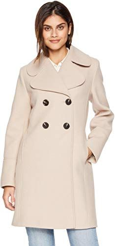 Buy kensie Women's Thigh Length Notched Lapel Trench Wool Coat online – Findthetoppopular