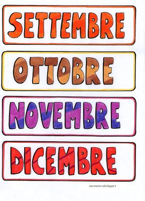 Calendario Classe Prima.Maestra Nella Il Calendario Classe Prima Calendario